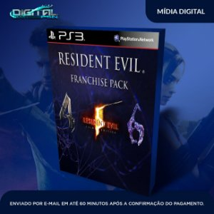 Resident Evil 4 + 5 + 6 Gold Edition  Ps3 Mídia Digital