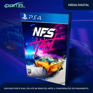 Need for Speed Heat Deluxe Edition Ps4 Mídia Digital