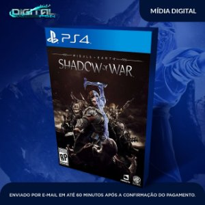 Terra Média Sombras da Guerra Ps4 Game Digital