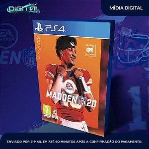 Madden NFL 20 PS4 Mídia Digital