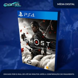 Ghost of Tsushima PS4 Lançamento Game Digital Primário
