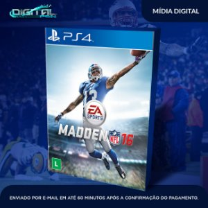 Madden NFL 16 Ps4 Mídia Digital