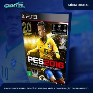 Pro Evolution Soccer 2016 Ps3 Pes 16 ps3 pes 2016 ps3 Mídia Digital
