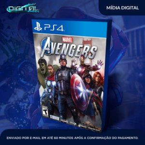 Marvel's Avengers Ps4 Psn Mídia Digital