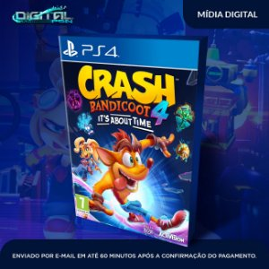 Crash Bandicoot 4 It's About Time Ps4 Mídia Digital