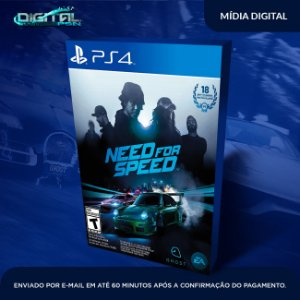 Need for Speed PS4 Mídia Digital