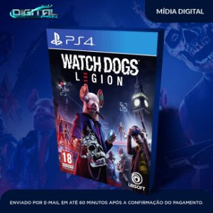 Watch Dogs Legion PS4 Mídia Digital