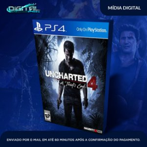 Uncharted 4: A Thief's End Midia Digital Ps4