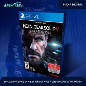 Metal Gear Solid V Ground Zeroes Ps4 Mídia Digital