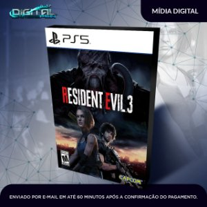 Resident Evil 3 Remake Ps5 Mídia Digital