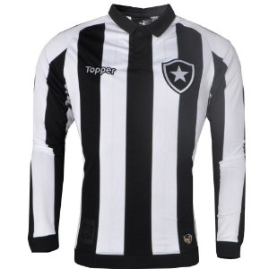 Camisa Botafogo Jogo I ML 2017 Topper
