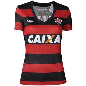 Camisa Vitória Jogo I Sem Número Feminina 2017 Topper