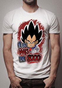 Camiseta Vegeta mais de oito mil Dragon Ball