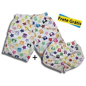 Kit Shorts Verão Mario Color Viuton + Frete Grátis