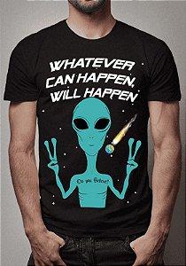 Camiseta Masculina Aliens e ET's