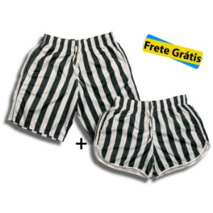 Kit Shorts Mozão Listras + Frete Grátis