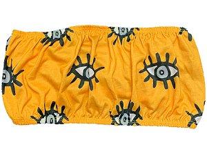 Top Faixa Olho Grego Amarelo