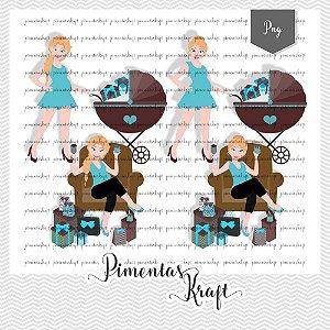 Kit Digital_Avatar _Chá de Bebê_Azul_Blonde