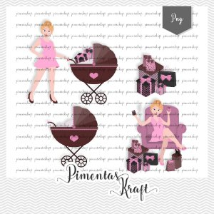 Kit Digital_Avatar_Chá de Bebê_Pink_Blonde