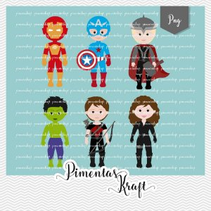 Kit Digital Clipart Os Vingadores by Elisabeth Pimenta