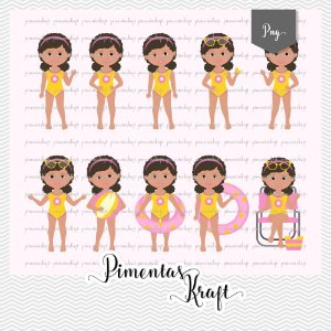 Kit Digital Clipart - Pool Party - Amelie by Elisabeth Pimenta