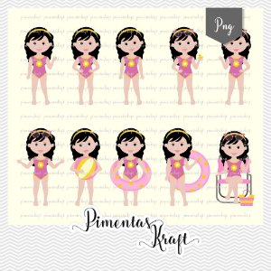 Kit Digital Clipart - Pool Party - Annelise by Elisabeth Pimenta