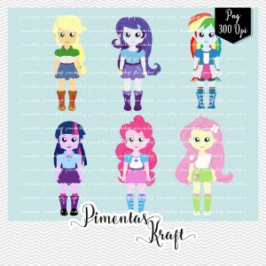 Kit Digital Clipart - Pequenas Bonecas Pôneis