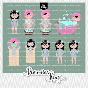 Kit Digital Clipart - Dia de Beleza Spa -Annelise