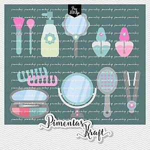 Kit Digital Clipart - Dia de Beleza Spa - Acessórios - Annelise