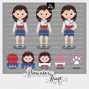 Kit Digital Clipart - Patrulha de Patinhas - Ryder Menina