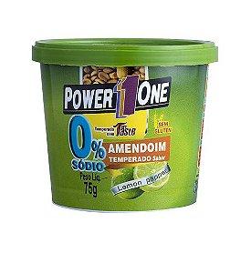 Amendoim Zero Sódio sabor lemon pepper Power One 75g