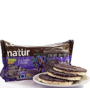 Biscoito de arroz natural sabor chocolate amargo Natür 100g