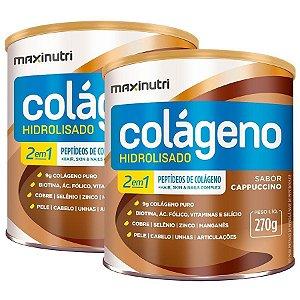 Colágeno Hidrolisado 2 em 1 MAXINUTRI 250g Cappuccino