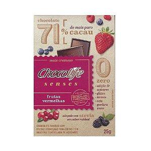 Chocolife Senses 71% Frutas Vermelhas 25g