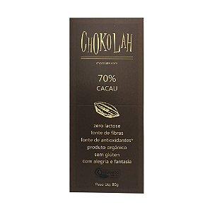 Chocolate Orgânico CHOKOLAH 70% CACAU
