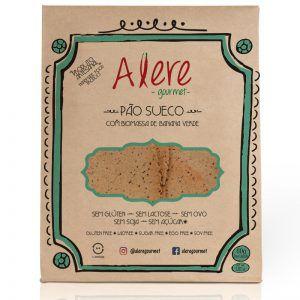 Pão sueco com biomassa de banana verde e chia - Alere Gourmet