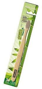 Escova de Dentes de Bamboo com Carvão Vegetal