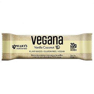 Barra De Proteína Vegana Vanilla Coconut 65g - Hart's Natural