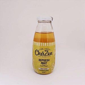 Chá Zen Bebida de baixas calorias - Menta + Suco de Abacaxi e Gengibre