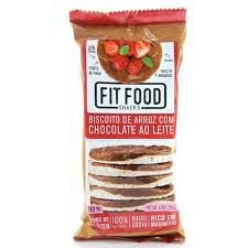 Biscoito de Arroz com Chocolate ao leite Fit Food 70g