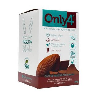 Ovo de Páscoa de Chocolate Puro 70% 160g Only4