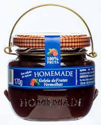 Geleia Homemade Zero Açúcar - Frutas Vermelhas 170g