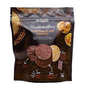 Biscoito de Arroz Integral c/ Cobertura Chocolate Amargo 60g Naturatta