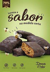 Pão de Mel Sem Glúten, Zero Açúcar, Sem Lactose, Com Chocolate 70%