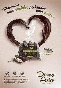 Biscoito Donna Asta com Chocolate 70%, Zero Açúcar 200g