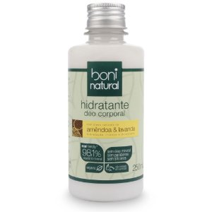 Hidratante corporal com óleo de amêndoa e lavanda