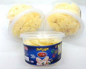 Chips de Queijo Provolone Desidratado com Alho - pote 100g
