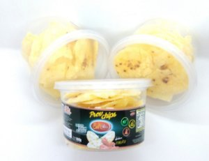 Chips de Queijo Provolone Desidratado com Pimenta - pote 100g