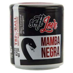 SOFT BALL TRIBALL MAMBA NEGRA 12G 03 UNIDADES SOFT LOVE
