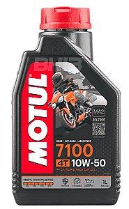 MOTUL 7100 10W50 Óleo de Motor 4T 100% Sintético 1 Litro